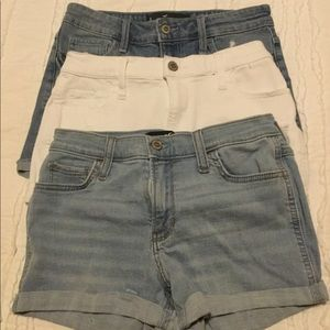 3 Pairs of Jean shorts - size 3/26 W